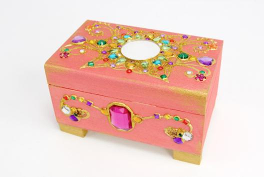 Coffre bijoux précieux - Tutos Fête des Mères - 10doigts.fr