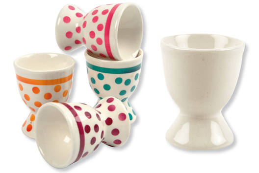 Coquetiers en porcelaine blanche - Tutos Fête des Mères - 10doigts.fr