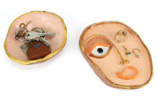 Vide-poche visage en argile - Modelage - 10doigts.fr