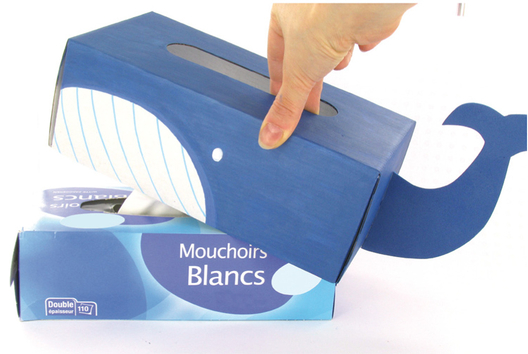 Couvre-boite à mouchoirs en carton fort blanc - Tutos Fête des Mères - 10doigts.fr