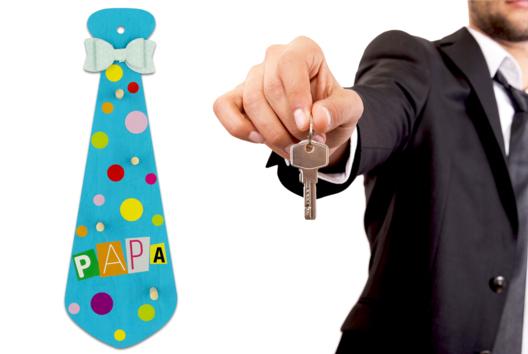 Cravate porte-clés #2 - Tutos Fête des Pères - 10doigts.fr