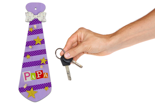 Cravate porte-clés #1 - Tutos Fête des Pères - 10doigts.fr