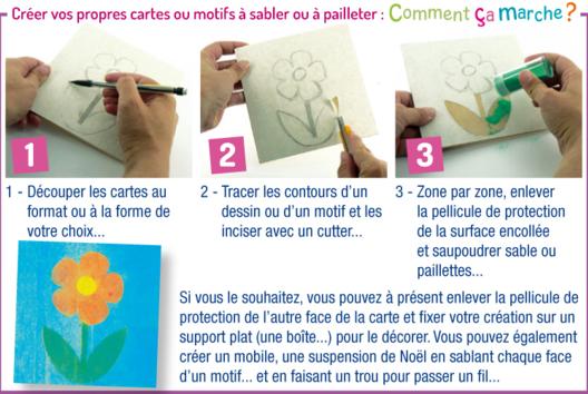 Créer une carte sable - Carterie - 10doigts.fr