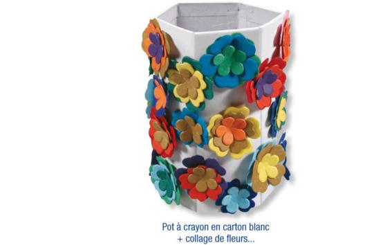 Pots à crayons printemps - Tutos Fête des Mères - 10doigts.fr
