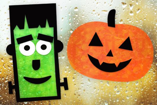 Décorations de fenêtres pour Halloween (attrape-soleil) - Tutos Halloween - 10doigts.fr