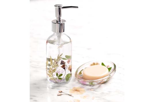 Distributeur de savon fleuri - Tutos Fête des Mères - 10doigts.fr