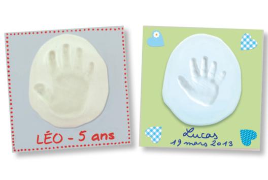 Tableau empreinte main ou pied de bébé - Tutos Fête des Mères - 10doigts.fr