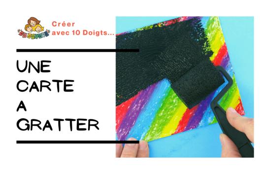 Créer des cartes à gratter - Arc-en-ciel - 10doigts.fr