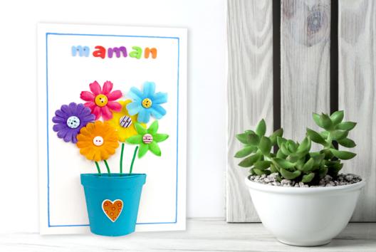Tableau Fleurs pour la fête des mères - Tutos Fête des Mères - 10doigts.fr