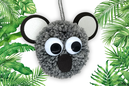 Koala en pompon - Animaux - 10doigts.fr