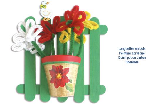 Vase déco printemps - Tutos Fête des Mères - 10doigts.fr