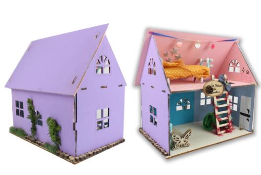 Maison de poupée en bois - Jeux - 10doigts.fr