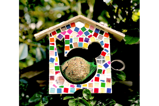 Mangeoire en mosaïques - Déco de la maison - 10doigts.fr