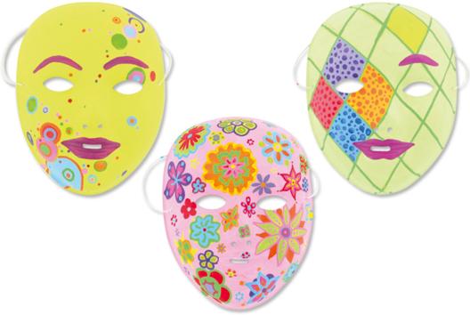 Masques à décorer - Tutos Carnaval - 10doigts.fr