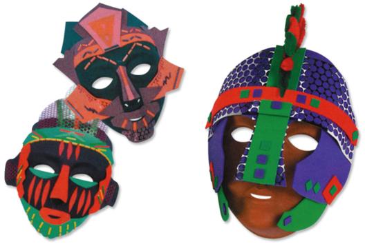 Masques à décorer avec du caoutchouc souple - Tutos Carnaval - 10doigts.fr