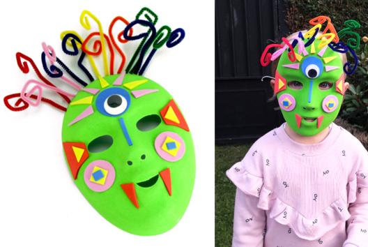 Fabriquer un masque pour Halloween - Tutos Halloween - 10doigts.fr