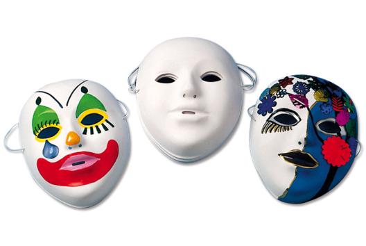 Masques à décorer pour le carnaval - Tutos Carnaval - 10doigts.fr