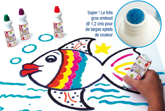 Dessiner avec des marqueurs à gouache ou à encre - Dessiner, colorier - 10doigts.fr
