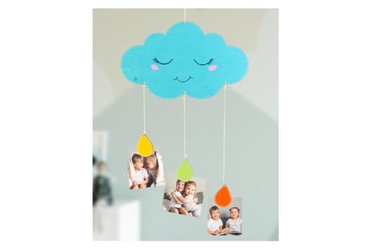 Mobile nuage porte-photos - Attrape-rêves, mobiles - 10doigts.fr