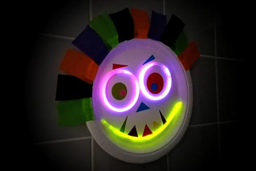 Monstre aux yeux lumineux - Tutos Halloween - 10doigts.fr