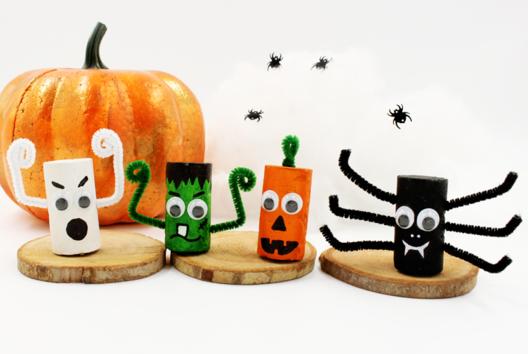 Monstres d'Halloween en bouchons - Tutos Halloween - 10doigts.fr