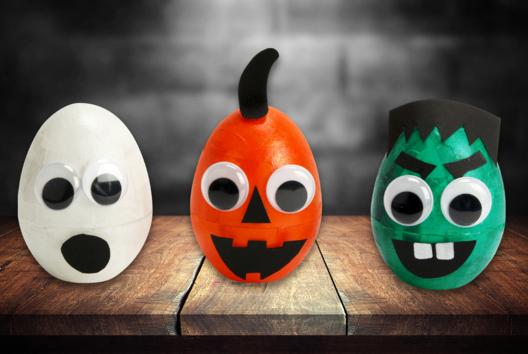 Petits monstres lumineux - Tutos Halloween - 10doigts.fr