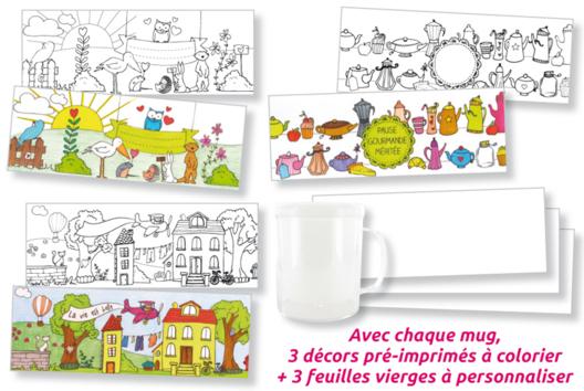 Mug à colorier - Décoration d'objets - 10doigts.fr