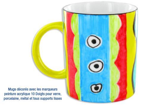 Mug style exotique - Décoration d'objets - 10doigts.fr