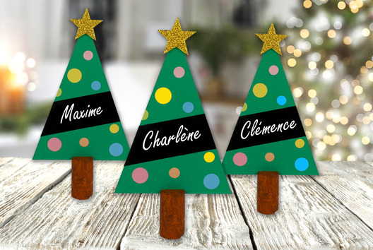 Marque-place sapin de Noël - Noël - 10doigts.fr