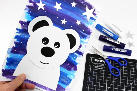 Ours polaire en papier - Animaux - 10doigts.fr