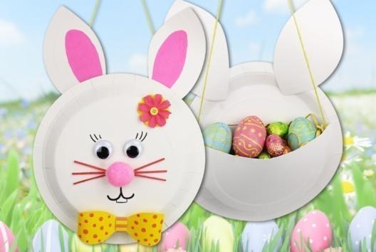 Panier lapin de Pâques - Tutos Pâques - 10doigts.fr