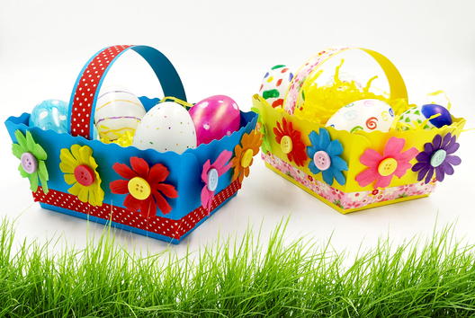Paniers de Pâques fleuris - Tutos Pâques - 10doigts.fr