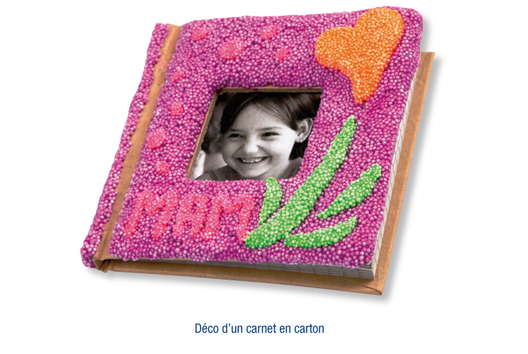 Carnet en carton habillé en FOAM CLAY - Décoration d'objets - 10doigts.fr