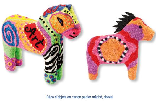Chevaux décorés avec de la pâte à modeler FOAM CLAY - Modelage - 10doigts.fr
