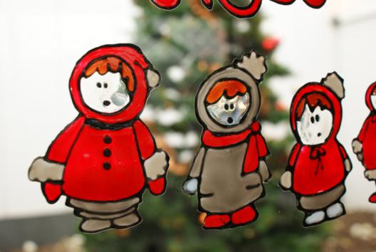Déco fenêtres de Noël - Peinture - 10doigts.fr