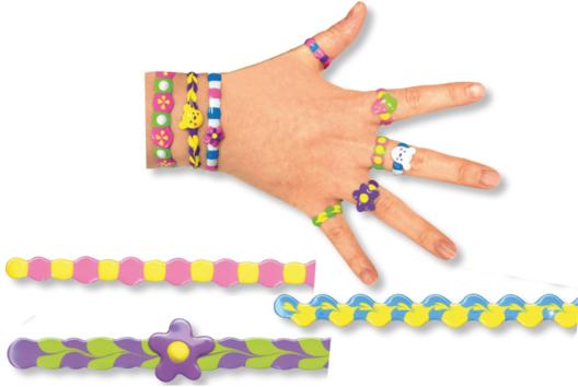Créer bagues et bracelets avec la peinture JELLY DECO - Tutos créations de Bijoux - 10doigts.fr