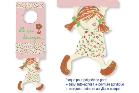 Plaque pour poignée de porte pour fille - Décoration d'objets - 10doigts.fr