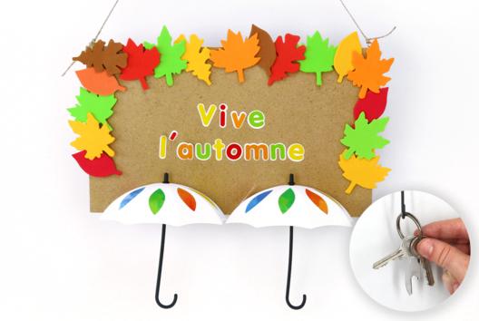 Porte-clés mural d'automne - Tutos Automne - 10doigts.fr