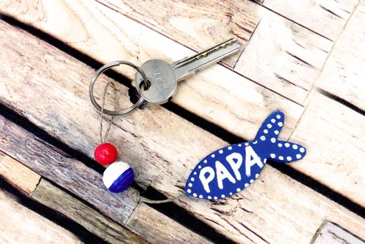 Porte-clés Poisson PAPA - Tutos Fête des Pères - 10doigts.fr