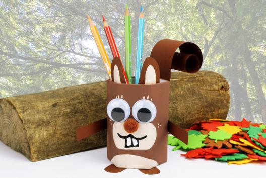 Pot à crayons écureuil - Décoration d'objets - 10doigts.fr