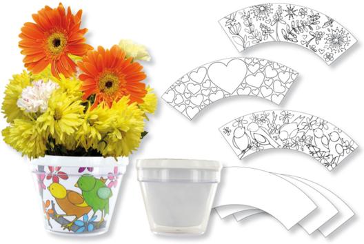 Pot de fleurs à décorer - Tutos Fête des Mères - 10doigts.fr