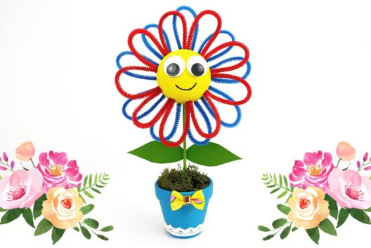 Petite fleur dans son pot - Tutos Fête des Mères - 10doigts.fr
