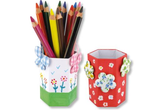 Pot à crayons printanier - Fête des Mères - 10doigts.fr