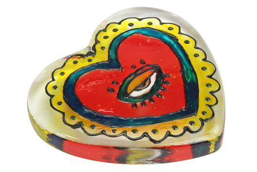 Peinture sur verre - Presse-papier coeur - Tutos Fête des Mères - 10doigts.fr