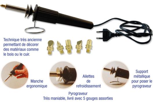 Pyrograveur - Décoration d'objets - 10doigts.fr