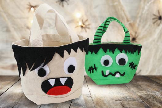 Sac à bonbons pour Halloween - Tutos Halloween - 10doigts.fr
