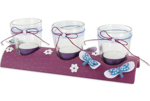 Centre de table bougeoir libellules - Décoration d'objets - 10doigts.fr