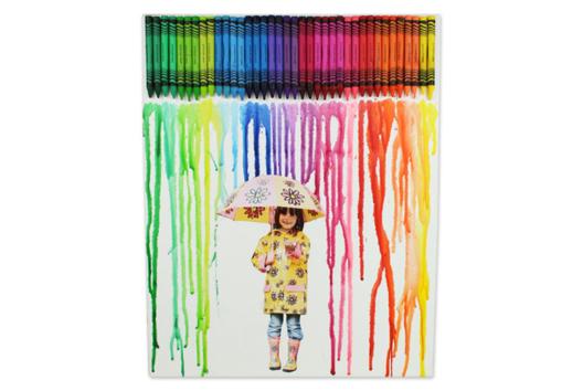 Tableau pluie de couleurs - Tableaux - 10doigts.fr