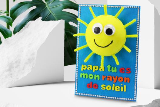 Tableau soleil 3D pour la fête des pères - Tutos Fête des Pères - 10doigts.fr