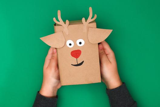 Emballage Cadeau Renne - J'emballe mes cadeaux - 10doigts.fr